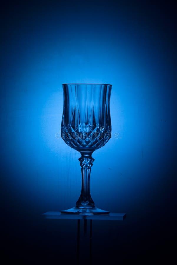 Blaues Kristallglas stockfotografie