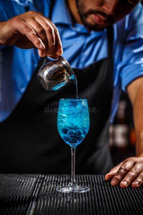Blaues Laguna-Cocktail lizenzfreies stockbild