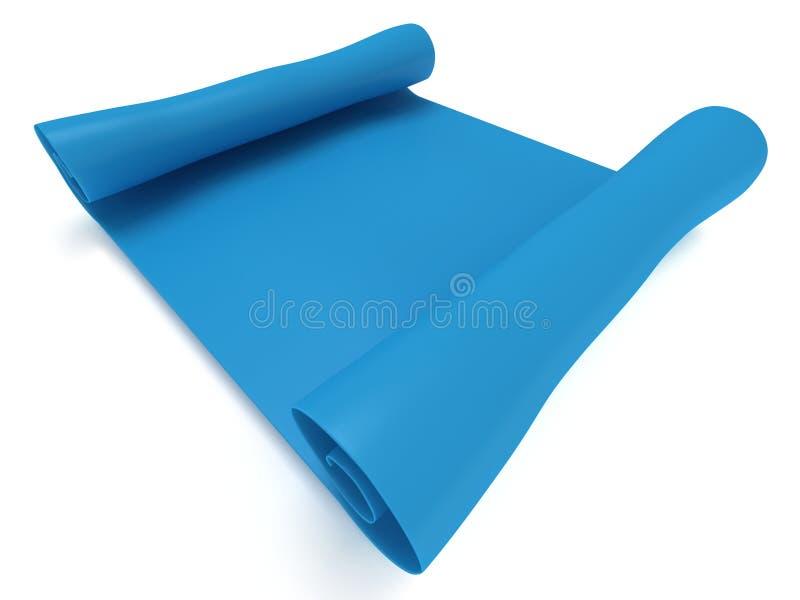 Blaues leeres Rollenpapier. Manuskript. 3d übertragen lizenzfreie abbildung