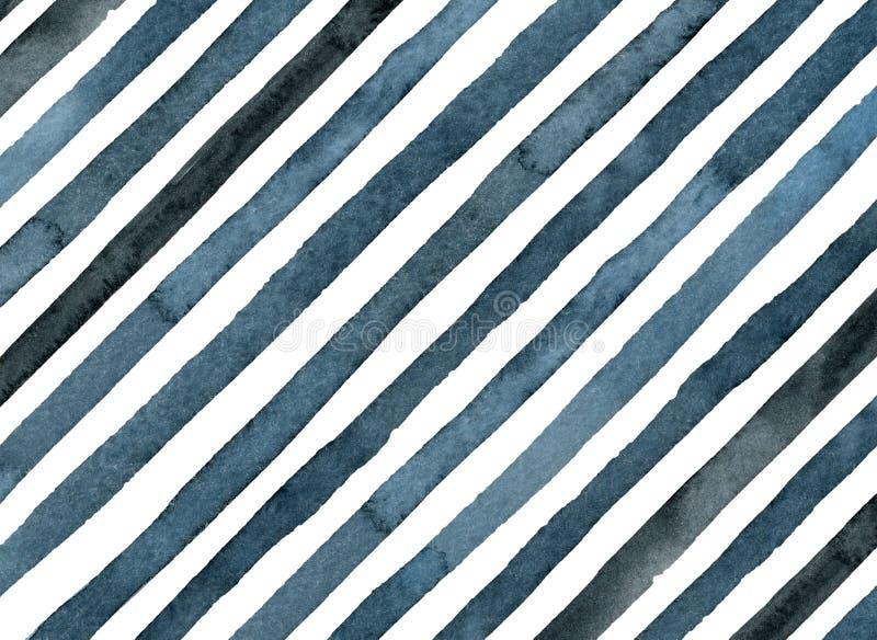 Blaues Licht und dunkle indigofarbene Streifen diagonal vektor abbildung