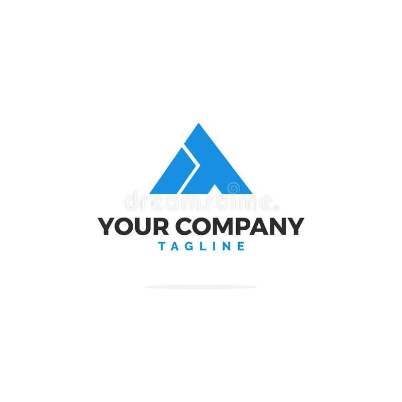 Blaues Logo des Vektor-IT stock abbildung