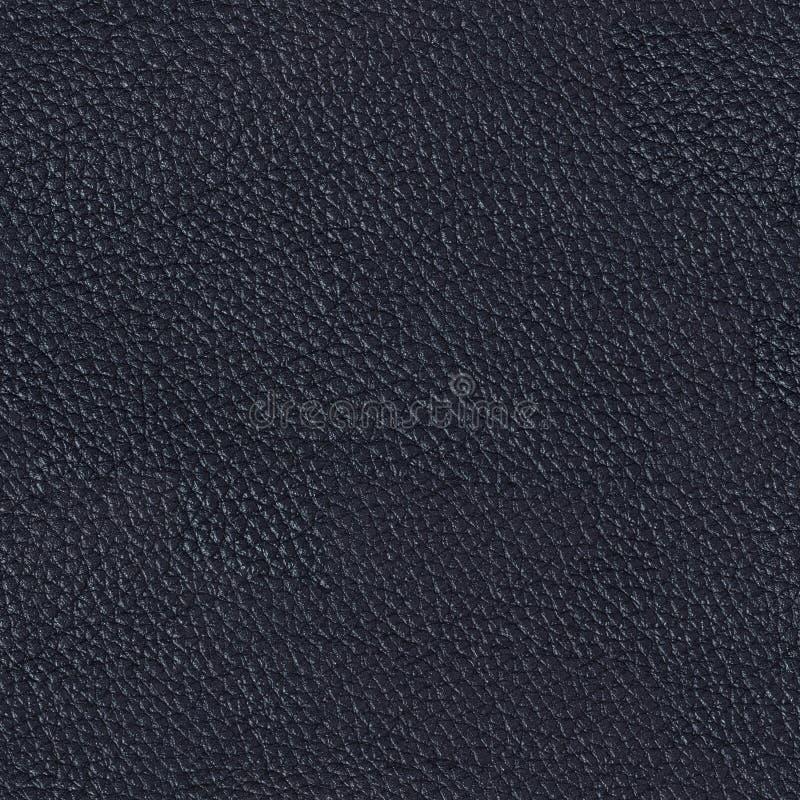 Blaues Luxusleder auf Makro Nahtloser quadratischer Hintergrund, Fliese r stockfotos