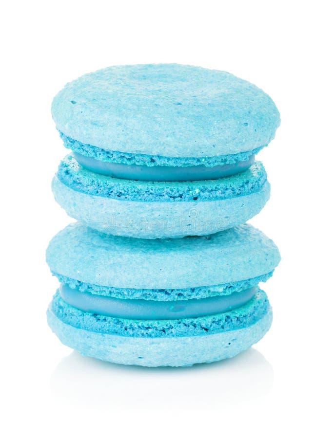 Blaues Macarons stockbilder