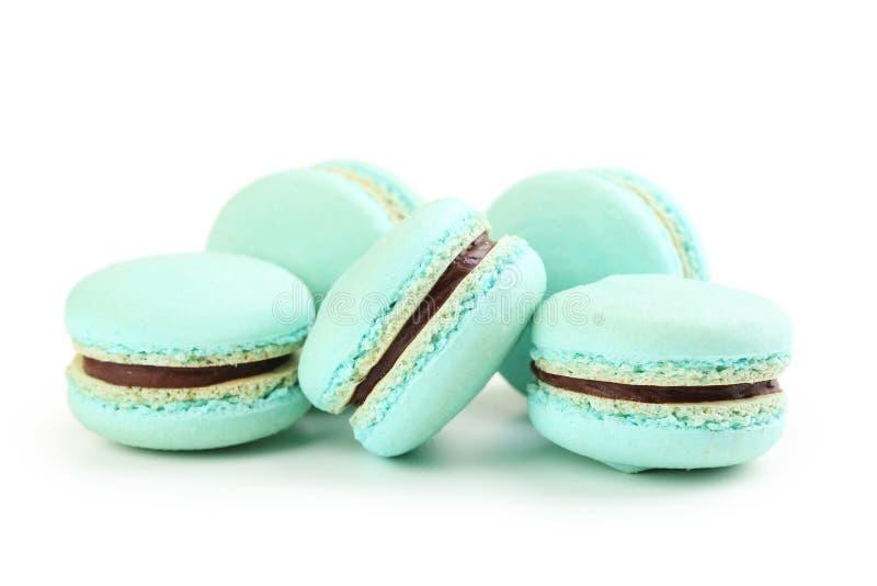 Blaues Macarons stockfotos