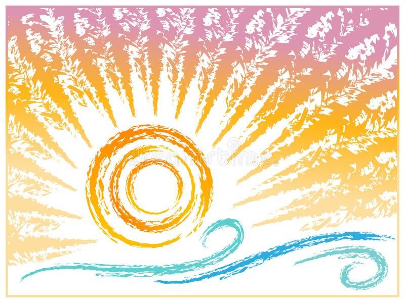 Blaues Meer, Himmel u vektor abbildung
