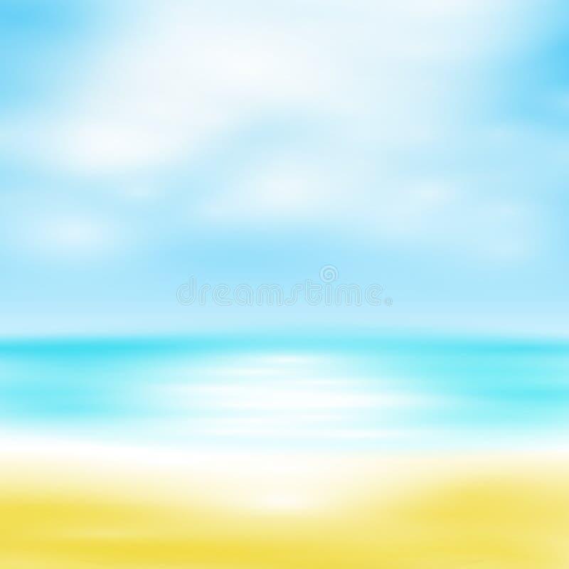 Blaues Meer, Himmel u stock abbildung