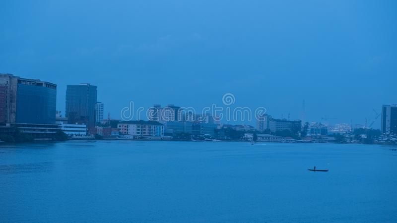 Blaues Meer, Lagos stockfotografie