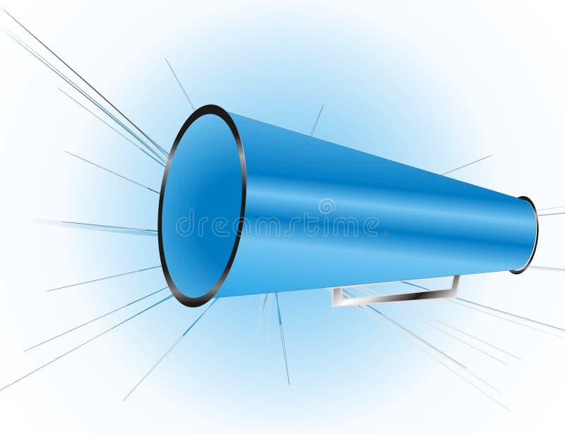 Blaues Megaphon lizenzfreie abbildung