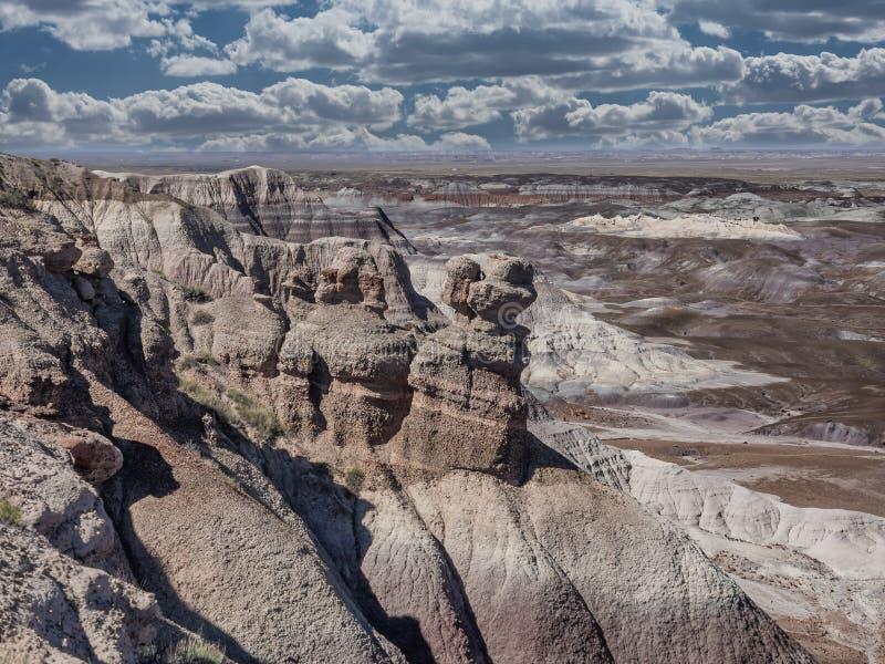 Blaues MESA in gemalter Wüste nahe Holbrook, Arizona lizenzfreie stockbilder