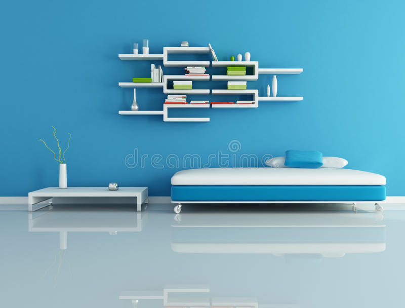 Blaues modernes wohnzimmer stock abbildung illustration von kasten 9483188 - Blaues wohnzimmer ...