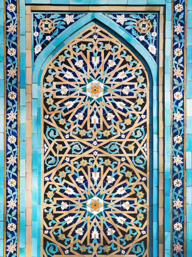 Blaues Mosaik stockbild