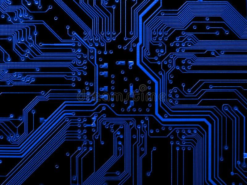 Blaues Motherboard lizenzfreie stockfotos