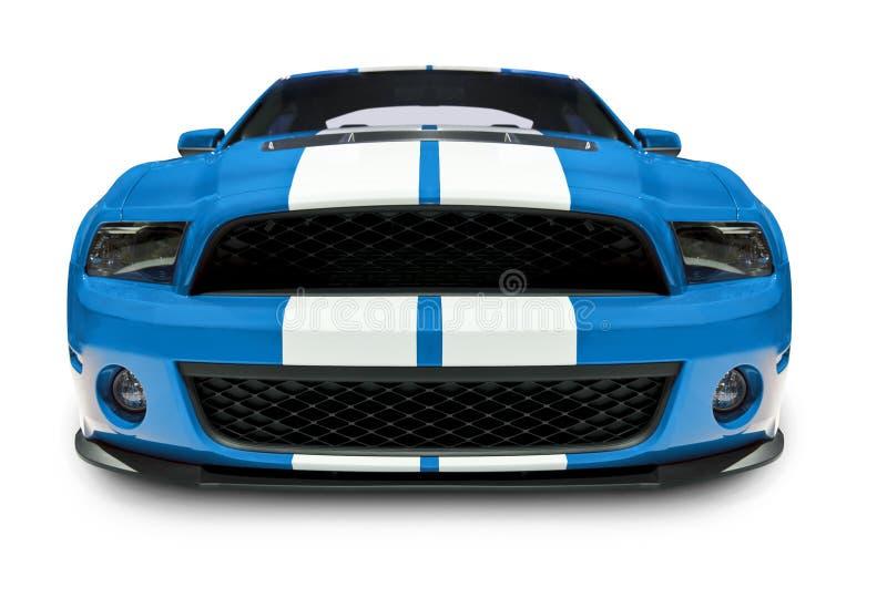 Blaues Muskel-Auto lizenzfreie stockfotografie