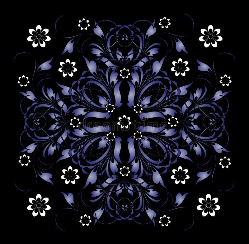 Blaues Muster lizenzfreie abbildung