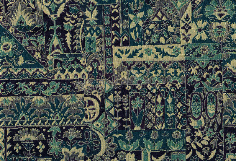 Blaues Muster der Tapisserie Textil lizenzfreies stockbild