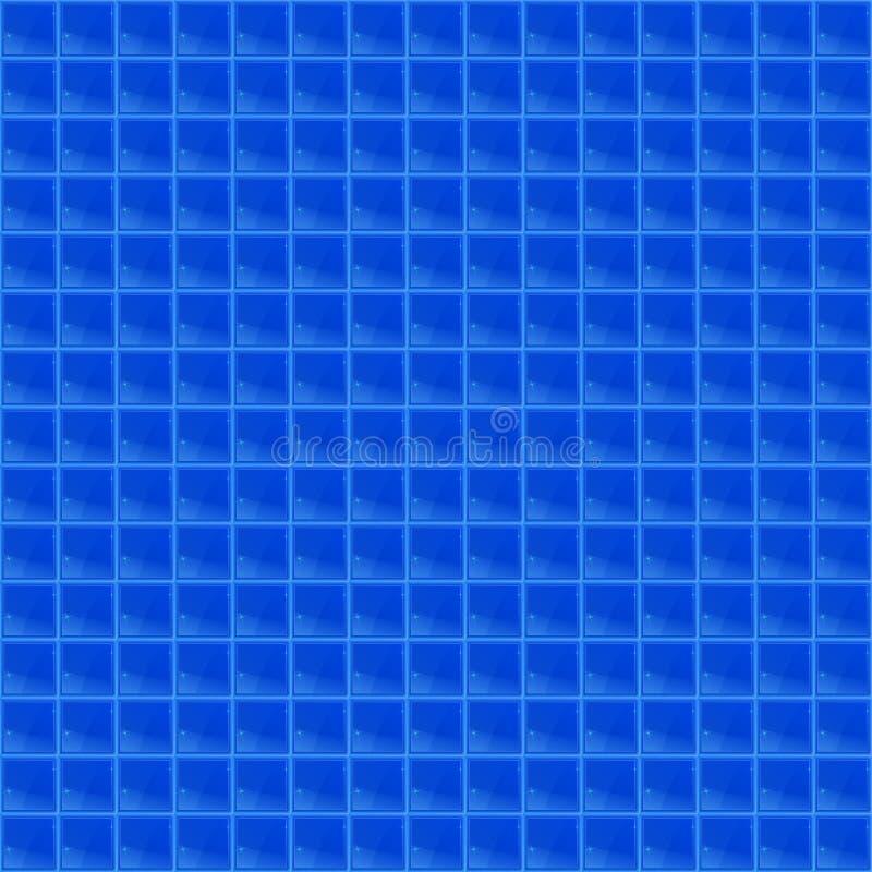 Blaues Muster-vierflächiges Mosaik lizenzfreie abbildung