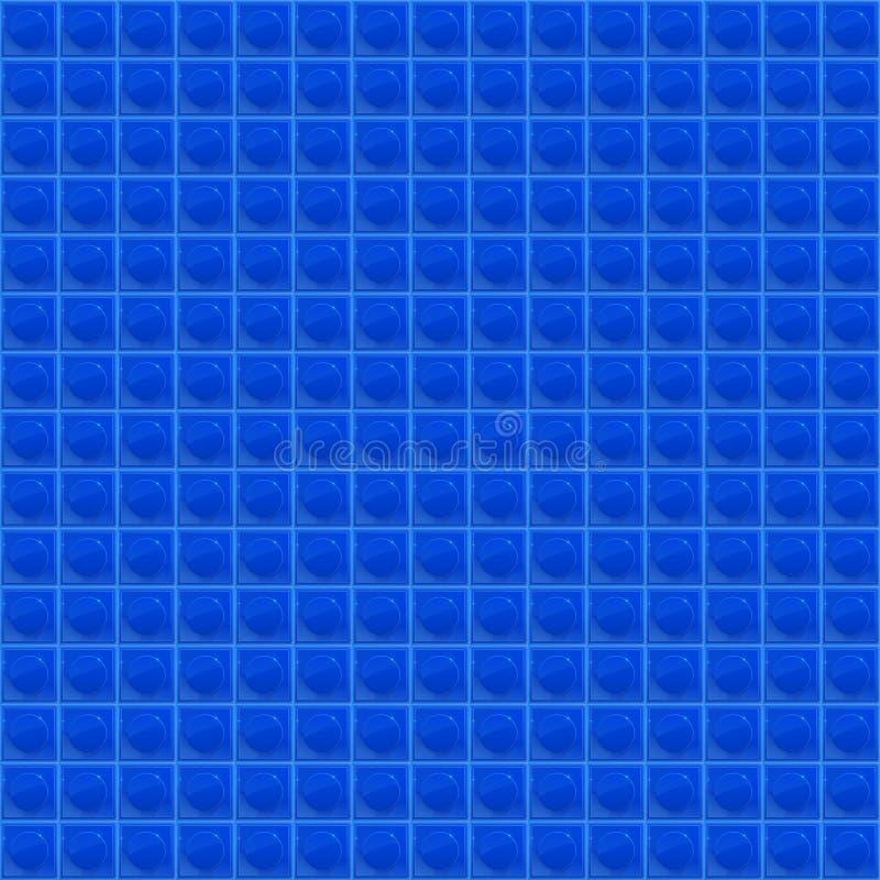 Blaues Muster-vierflächiges Mosaik vektor abbildung