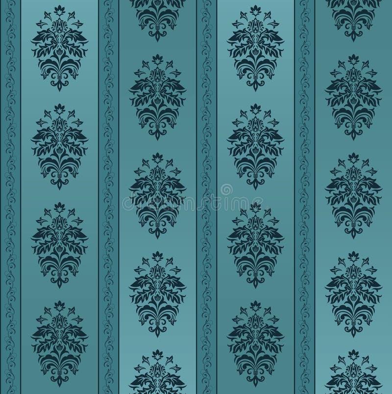 Blaues nahtloses aufwändiges Muster vektor abbildung