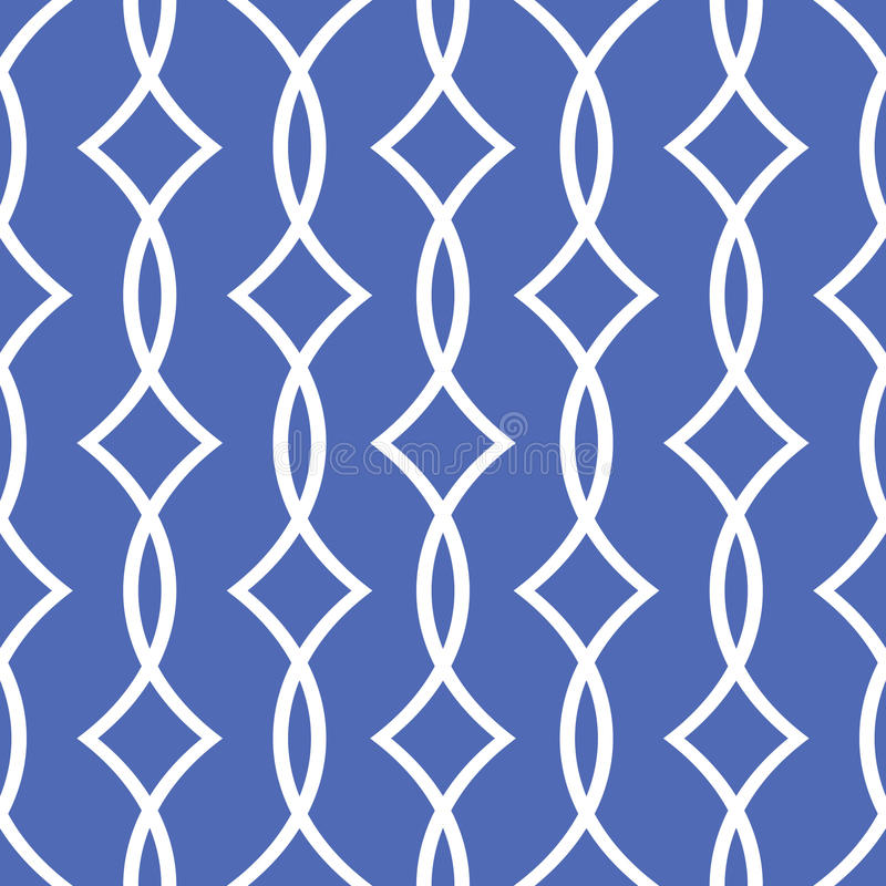 Blaues nahtloses Muster stock abbildung