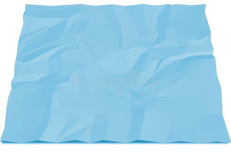 Blaues Papier zerknittert vektor abbildung