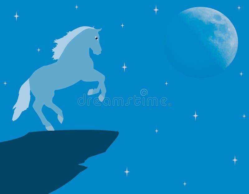 Blaues Pferd stock abbildung