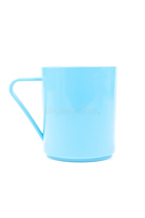 Blaues Plastikglas stockfoto