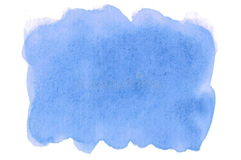 Blaues Poster mit hoher Auflösung Für Design, Web, Dekoration, Oberflächen Aquarellfärbung für Tapeten Modernes Design stockbild