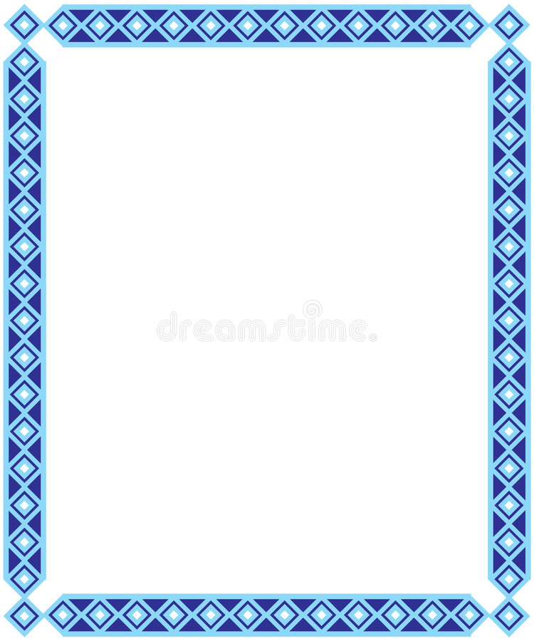Blaues quadratisches Feld lizenzfreie stockfotografie