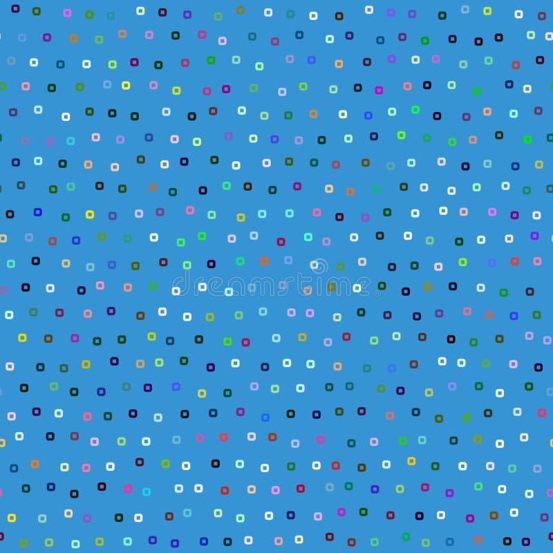 Blaues quadratisches Muster vektor abbildung