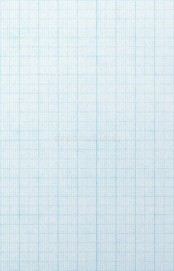 Blaues Rasterfeldskalapapier. lizenzfreie stockbilder