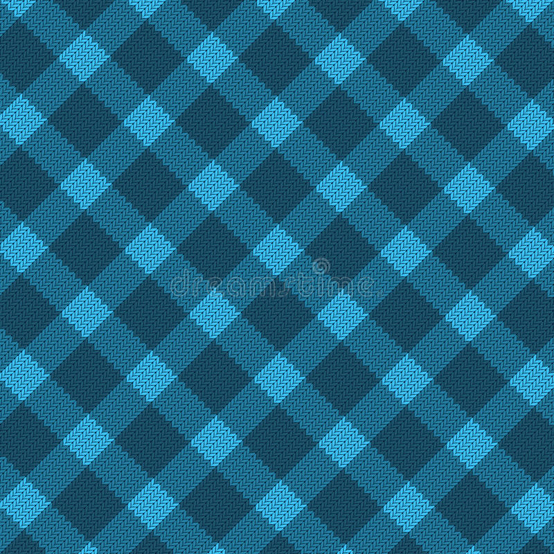 Blaues realistisches Gewebemuster vektor abbildung