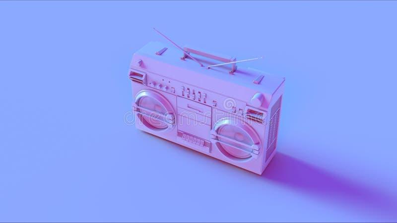 Blaues Rosa Boombox stockfotografie
