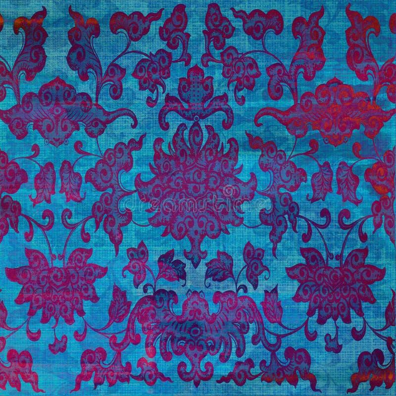 Blaues Rot-Schmutz-Batik-Hintergrund lizenzfreie stockbilder