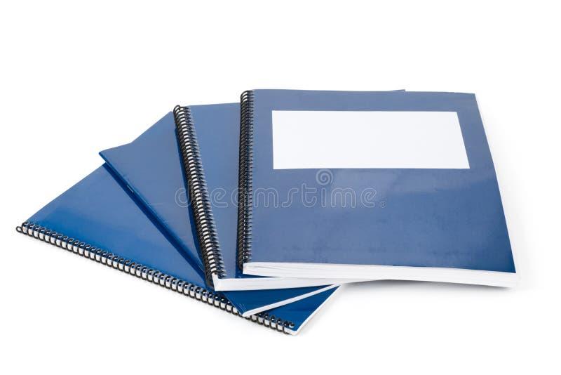 Blaues Schulelehrbuch lizenzfreie stockfotografie