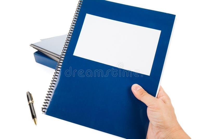 Blaues Schulelehrbuch lizenzfreies stockbild