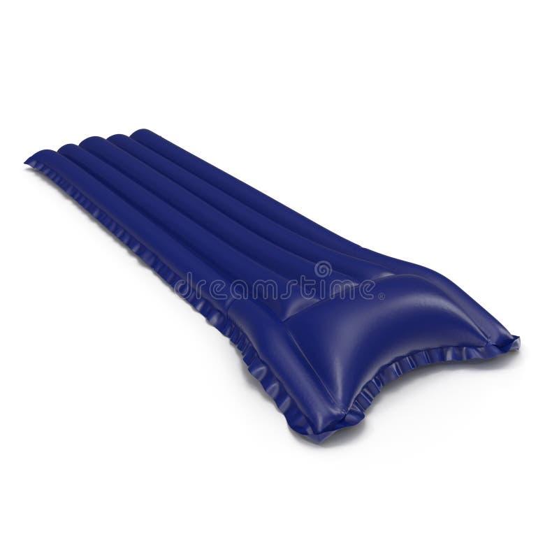 Blaues sich hin- und herbewegendes Poolfloss lokalisiert auf weißem Hintergrund stockfotografie