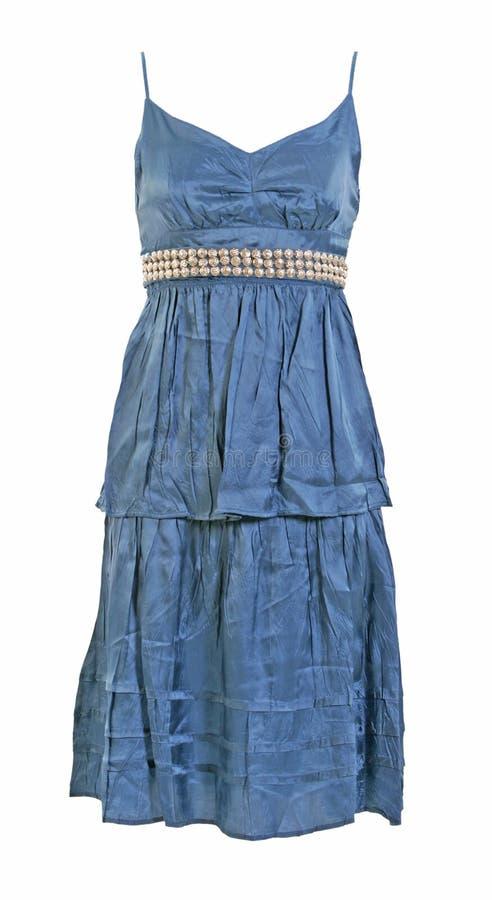 Blaues silk Kleid lizenzfreies stockbild