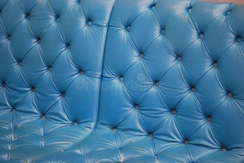 Blaues Sofa stockbild