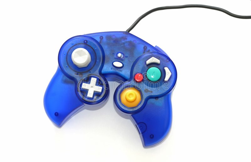 Blaues Spiel Joypad stockbild