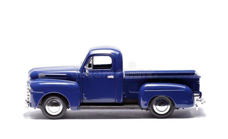 Blaues Spielzeug-Auto, Aufnahmen-LKW lizenzfreies stockbild