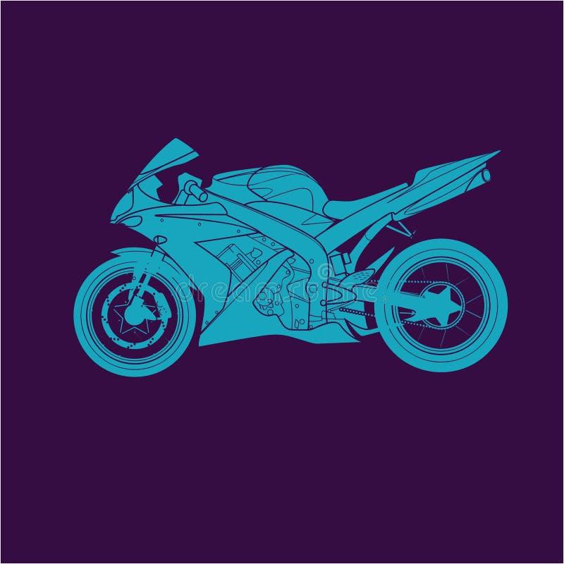 Blaues Sportfahrrad stockbilder