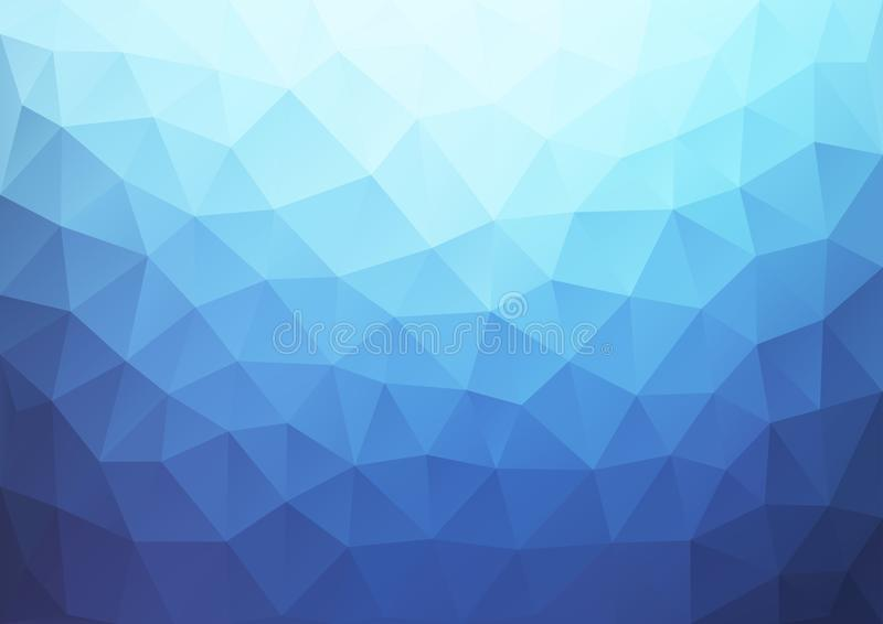 Blaues Steigungs-Muster geometrisch vektor abbildung