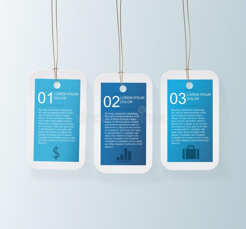 Blaues Tag Infographic lizenzfreie abbildung