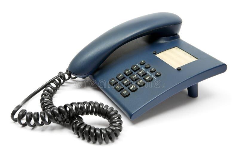 Blaues Telefon lizenzfreie stockfotografie