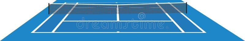 Blaues Tennisgericht lizenzfreie abbildung