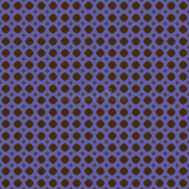 Blaues und braunes Muster stock abbildung