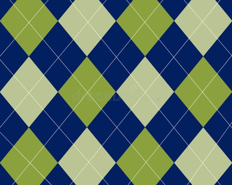 Blaues und grünes argyle lizenzfreie stockfotografie