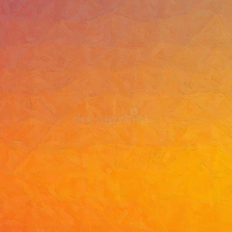 Blaues und orange Impasto mit weicher Bürste in der quadratischen Formhintergrundillustration lizenzfreie abbildung