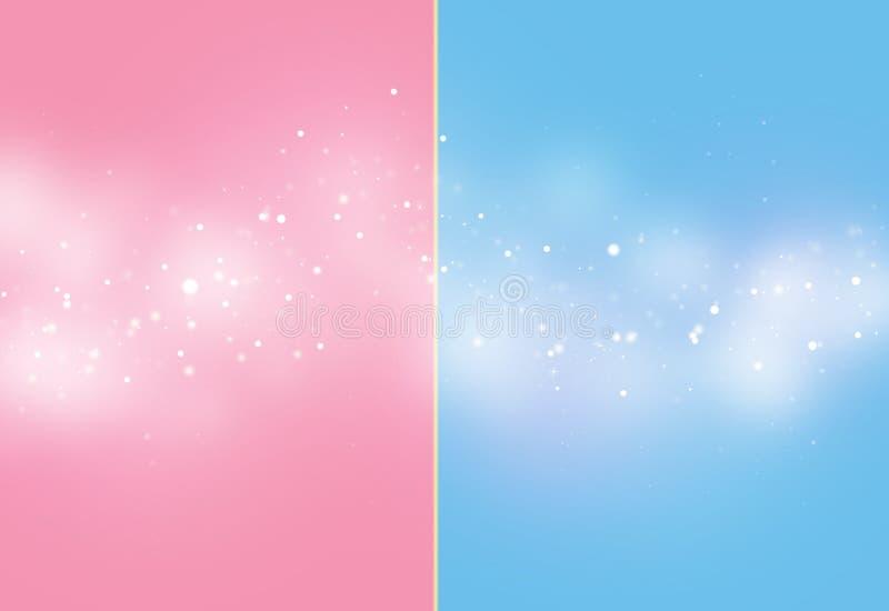Blaues und rosa Heftstrahl bokeh lizenzfreie stockbilder