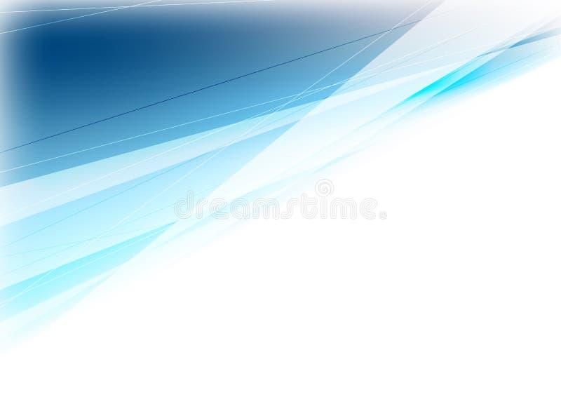 Blaues und weißes Abstraktionsdesign mit Streifen lizenzfreie abbildung